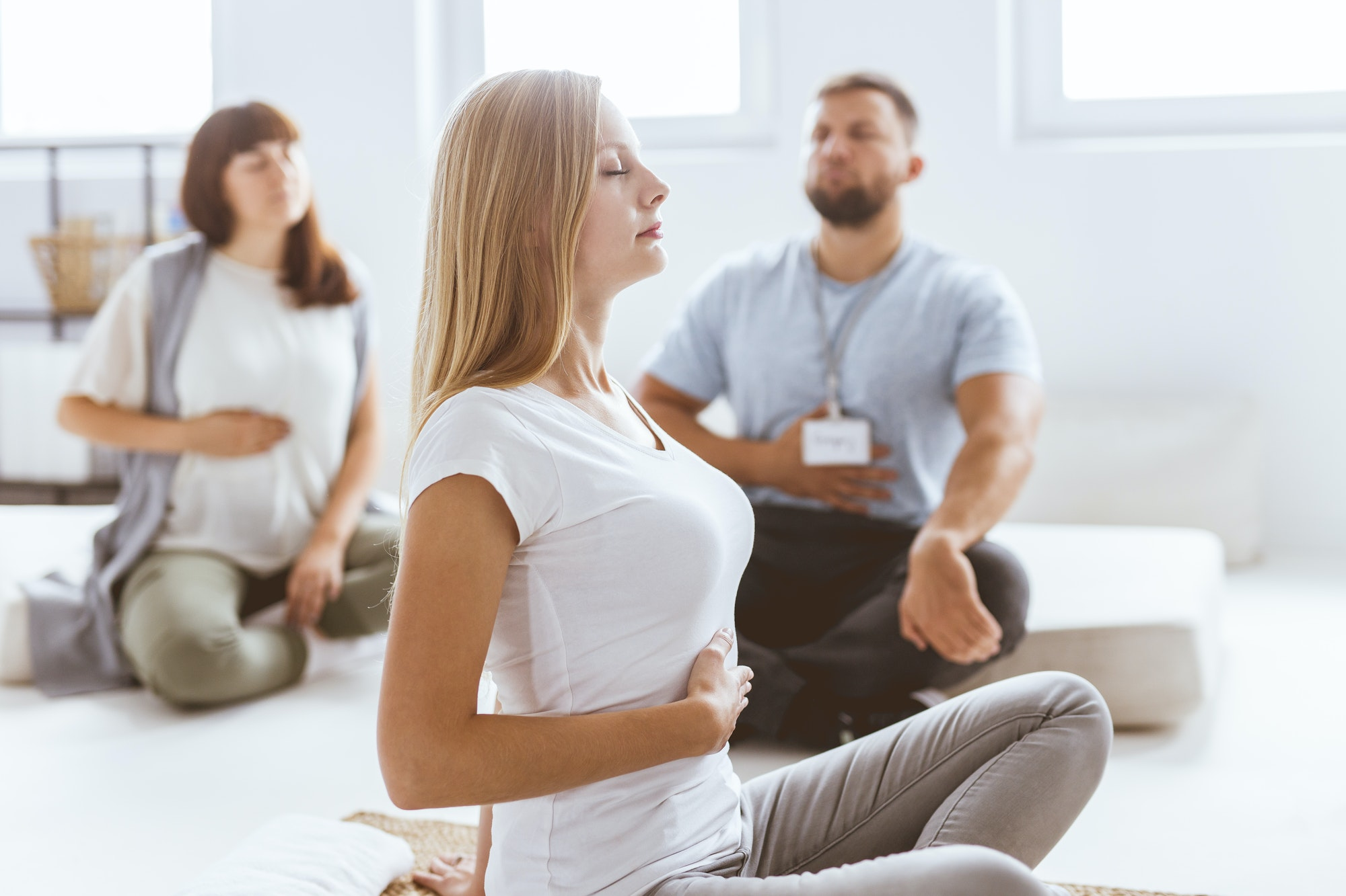 Praciticing the breathing